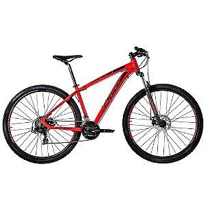 Bicicleta Aro 29 Oggi Hacker Sport 21V Vermelho Lançamento 2020