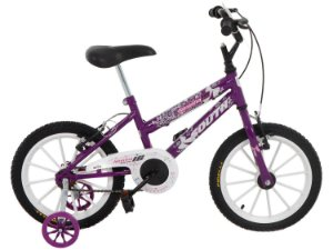 Bicicleta Aro 16 South Bike Nininha Violeta