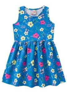 Vestido azul flores