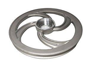 Polia Ventilada Alumínio Dianteira Sem Miolo P/ Sistema Contra Recuo