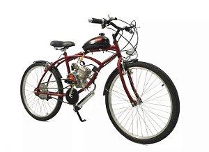 Bicicleta Motorizada Caiçara Sport 80cc Kit Motor Moskito - Vermelha