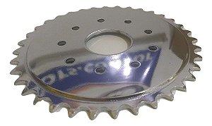 Coroa Da Bicicleta Motorizada 36 Dentes- Super Rápida, Veloz