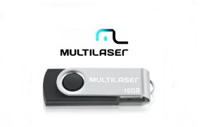 Pen Drive Twist Preto 16Gb Multilaser
