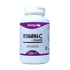 Vitamina C + Colágeno 500mg - Nathus - 120 Cápsulas