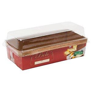 Forma para bolo ingles / caserinho  - red (com tampa)- 10 unidades