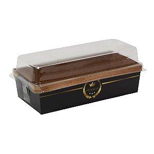 Forma para bolo ingles / caserinho  - black (com tampa)- 100 unidades