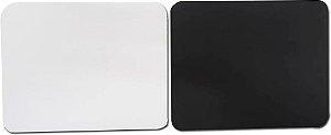Mouse pad branco para sublimação retangular - 60 unidades