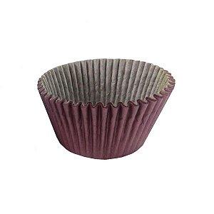 Forminha mini cup cake impermeável - marrom  100 unidades