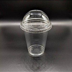 Copo pet 355 ml + tampa bolha s/ furo 92 mm - 50 unidades