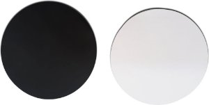 Mouse pad branco para sublimação redondo 22 cm - 100 unidades
