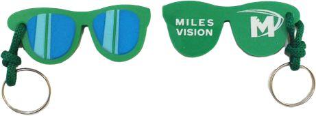 Chaveiro oculos emborrachado personalizado - 100 unidades