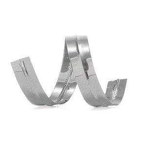 Lacre prático 9 x 50 mm cor prata - 100 unidades