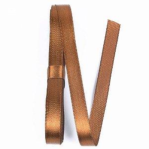 Fita de cetim liso marrom 15 mm x 10 m com 01 unidades