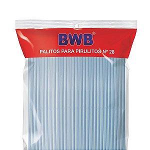 Palito para pirulito grande cor azul - 50 unidades