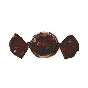 Embalagem para trufa marrom café 12x12,5 - 100 unidades