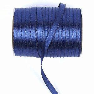 Fita de cetim liso azul marinho 3,5 mm x 100 m com 01 unidades