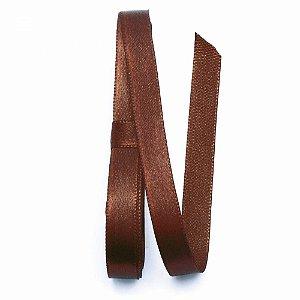 Fita de cetim liso capuccino 6,5 mm x 10 m com 01 unidades
