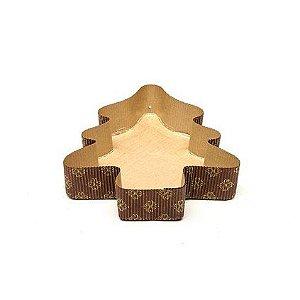 Forma forneavel arvore panetone ou pães 140x160| x 35 mm  - 05 unidades