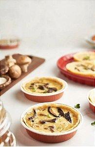 Forma italiana redonda para quiche ou tortas optima 110 c/ tampa - 05 unidades