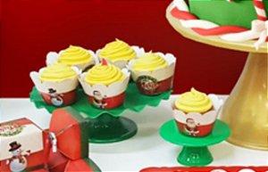Forma cup cake Natal - 12 unidades