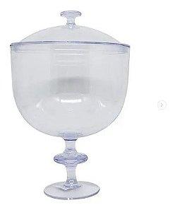 Taça americana acrilico com tampa -  1,250 litros