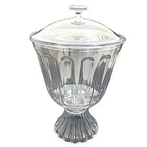 Taça confeiteiro acrilica com tampa 1,250 L