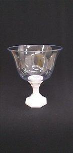 Taça acrilica sobremesa ou decoração - pé branco - 1250 ml