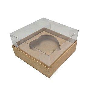 Caixa de ovo de pascoa de colher - coração Kfrat - 500 gr - 05 unidades