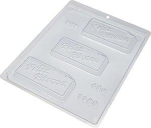 Forma Simples Placa feliz pascoa  - cod 1380 - 10 unidades