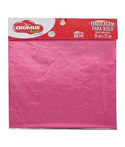 Embalagem laminada para bolo cor rose 20x22 50 unidades