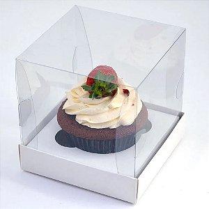 Caixa para cup cake n04 - branca 10x10x10 - 10 unidades