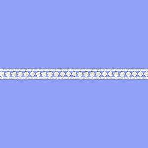 Renda Branca Poliéster F013. (Jarda)