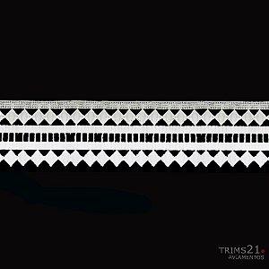 Renda Branca Poliéster T4-181 - A