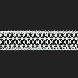 Fita Renda Branca Poliéster F060. 6,0cm.