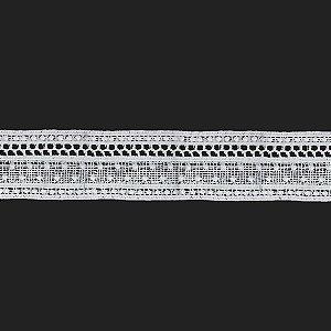Fita Renda Branca Poliéster F151. 4,3cm.