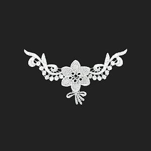 Renda Branca Poliéster 13-318. 18cm.
