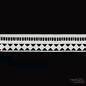 Renda Branca Poliéster T4-181- B