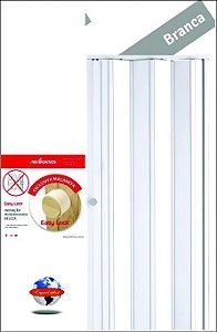Porta Sanfonada PVC Araforros 1,32 x 2,10 cor Branca - maçaneta Easy lock
