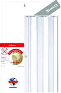 Porta Sanfonada PVC Araforros 1,44 x 2,10 cor Branca - maçaneta Easy lock