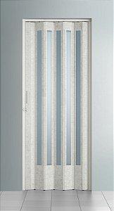 Porta Sanfonada Translucida Puntinato com Trinco - BCF Plasticos - Esquadriplast