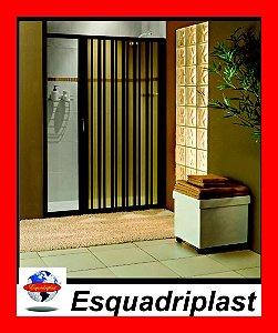 Box sanfonado para Banheiro largura de 101 cm até 115 cm x 1,85 altura Cor Preto - Largura 1,15 x 1,85 Altura