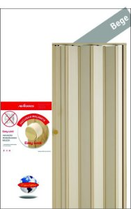 Porta Sanfonada Bege Araforros 1,80 x 2,10 maçaneta Easy Lock