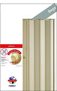 Porta Sanfonada Bege Araforros 1,92  x 2,10 maçaneta Easy Lock