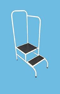 Escada Doppler com 2 degraus com piso antiderrapante 135 x 45 x 80 - Esquadriplast