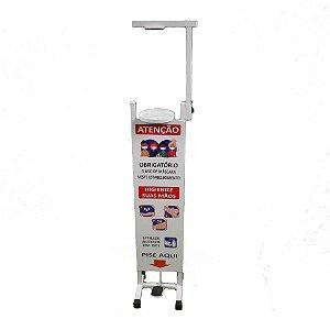 Dispenser / Suporte para Álcool Gel - com Pedal - Esquadriplast - não acompanha recipiente -  - MOD T2 BCV