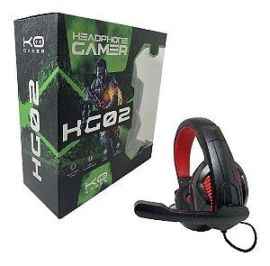 Headphone Gamer Hg02 Com Fio E Microfone Com Anti-interferência