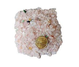 250g De Pedra Rolada De Cascalho Quartzo Rosa Natural Atacado Chakra