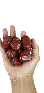 1Kg De Pedra Rolada De Jaspe Vermelho Natural A Grande Chakras