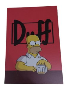Placa Decorativa / Quadro Em Mdf Duff Hommer Simpson Sentado Mesa