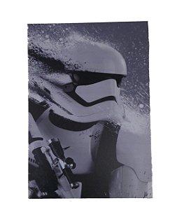 Placa Decorativa / Quadro Em Mdf Soldier Preto e Branco
